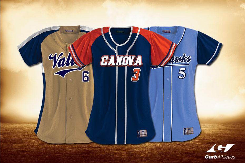 Custom Softball Jerseys  - just a few out of the hundreds of styles available