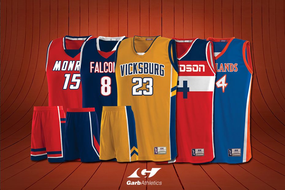 Youth Basketball Uniforms  - just a few out of the hundreds of styles available